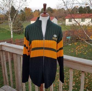 Vintage NFL Green Bay Packers Zip Cardigan